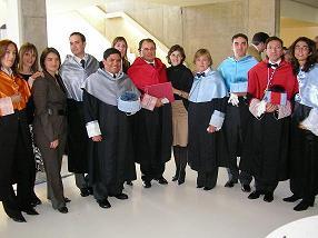 Compañeros en la inauguración del Campus de Villanueva de Gallego